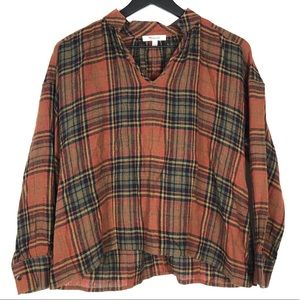 Madewell Flannel Popover